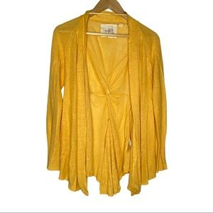 Anthropologie Angel of the North Yellow Open front